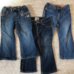 Other - Lot of bootcut jeans! Size 24m or 2T